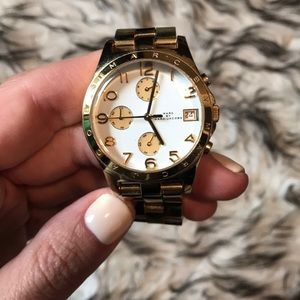 Marc by Marc Jacobs gold large face watch